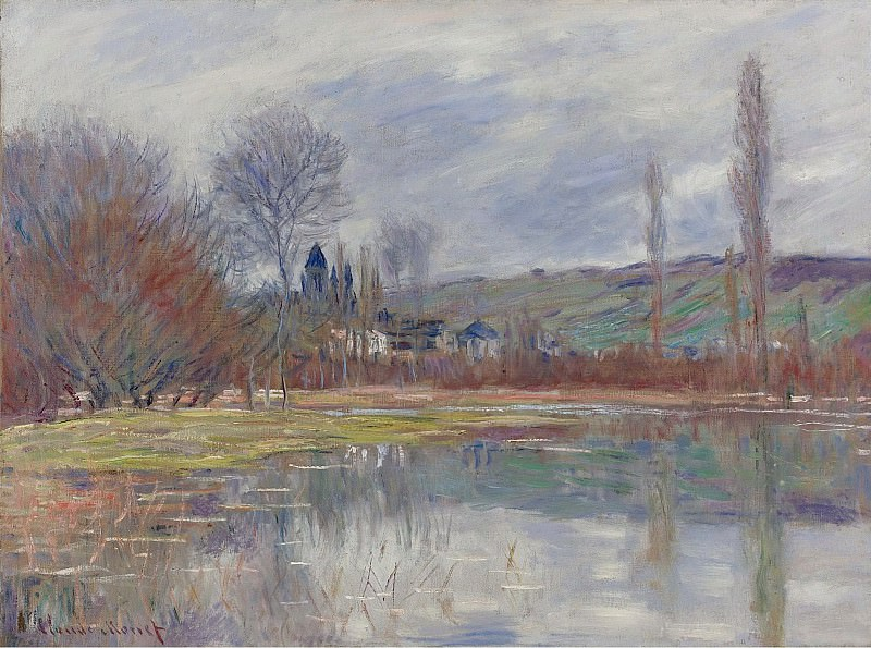Claude Monet - The Spring at Vetheuil, 1881. Sotheby's