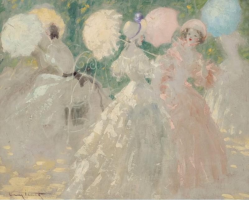 Louis Icart - The Umbrellas. Sotheby's