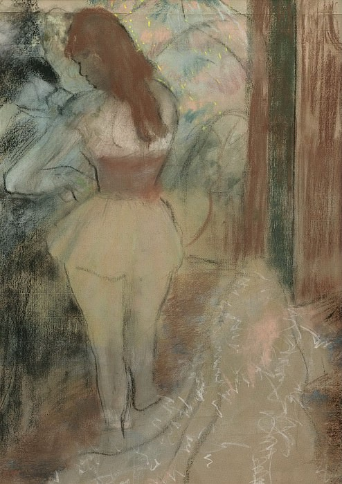 Edgar Degas - Dressing Dancer, 1889. Sotheby's