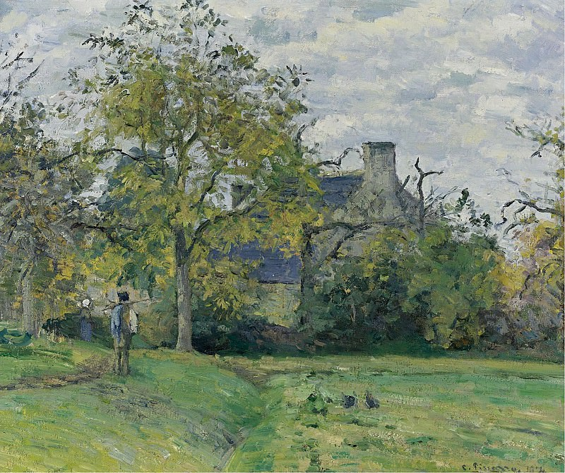 Camille Pissarro - The House of Piette at Montfoucault, 1874. Sotheby's