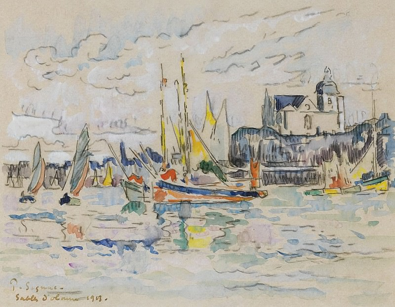 Paul Signac - View of the Port of Sables dOlonne, 1913. Sotheby's