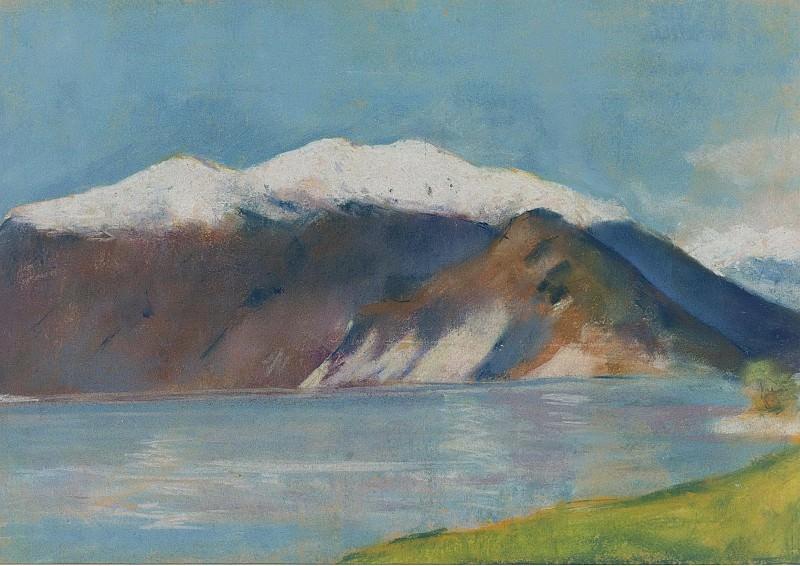 Lesser Ury - Lake Garda and Monte Baldo, 1890s. Sotheby's
