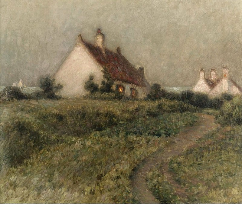 Henri Le Sidaner - A House on a Dune, Fort-Philippe, 1903. Sotheby's
