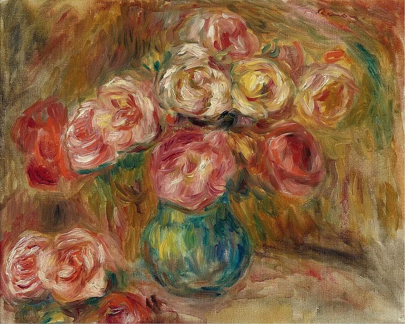 Pierre Auguste Renoir - Vase with Flowers 01. Sotheby's