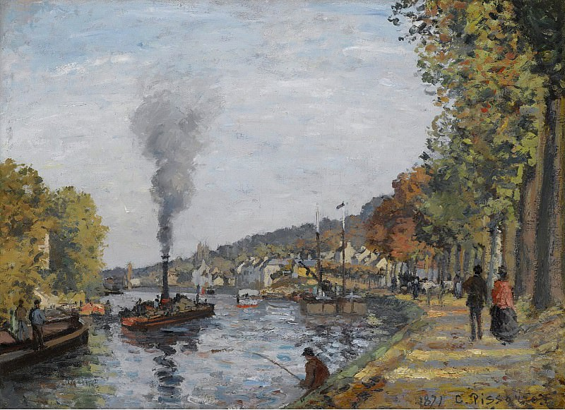 Camille Pissarro - The Siene at Bougival, 1871. Sotheby's