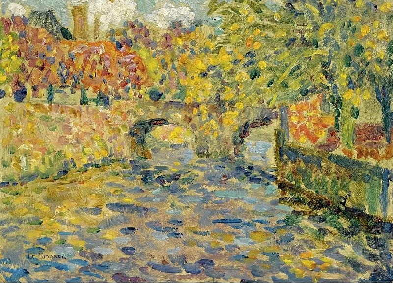Henri Le Sidaner - The Bridge, Quimper, 1923. Sotheby's