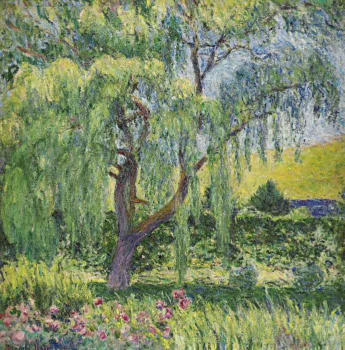 Blanche Hoschede-Monet - Giverny, Willow and Roses. Sotheby's