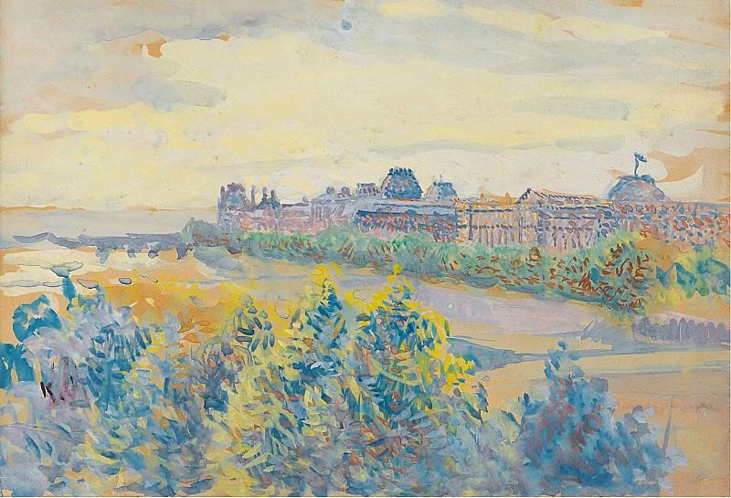 Maximilien Luce - The Louvre. Sotheby's