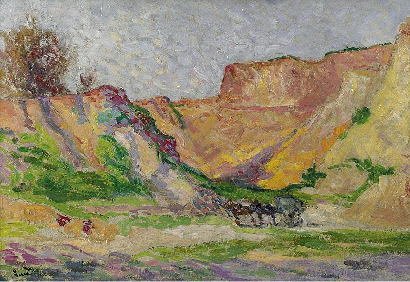 Люс, Максимильен - The Outskirts of Rollebois, Harness at the Sand-Pit. Картины с аукционов Sotheby's