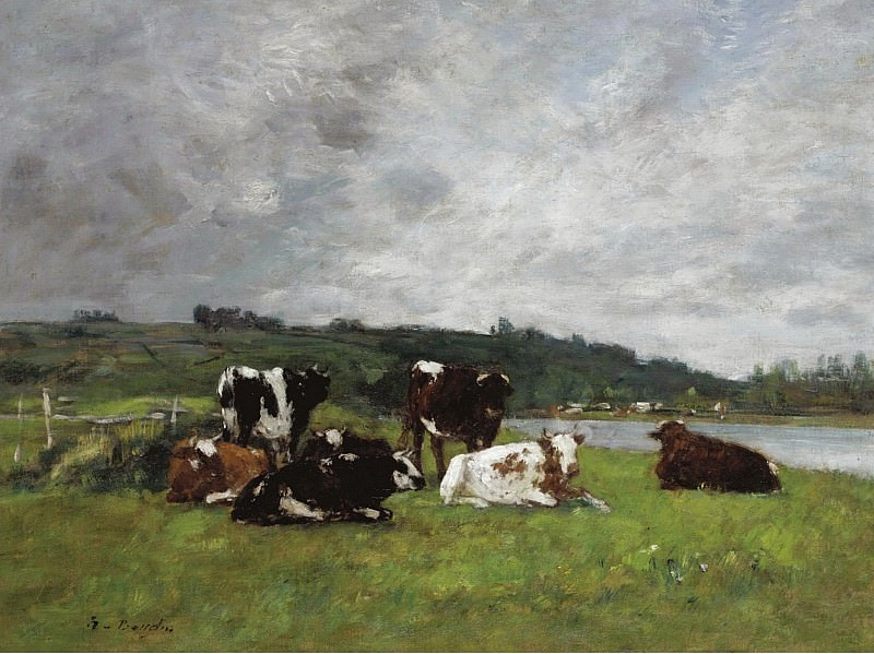 Eugene Boudin - Cows at the Pasture, 1880-85 02. Sotheby's