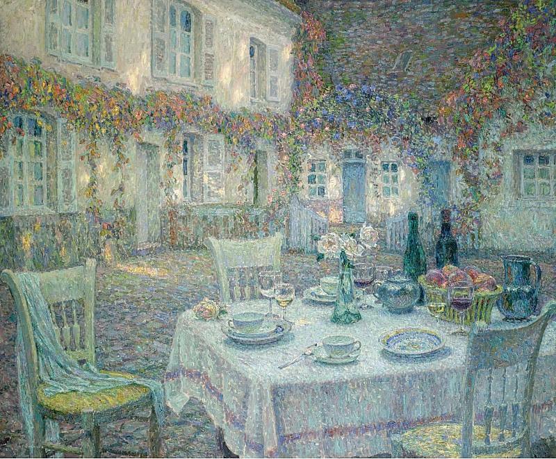 Henri Le Sidaner - Breakfast, 1913. Картины с аукционов Sotheby's