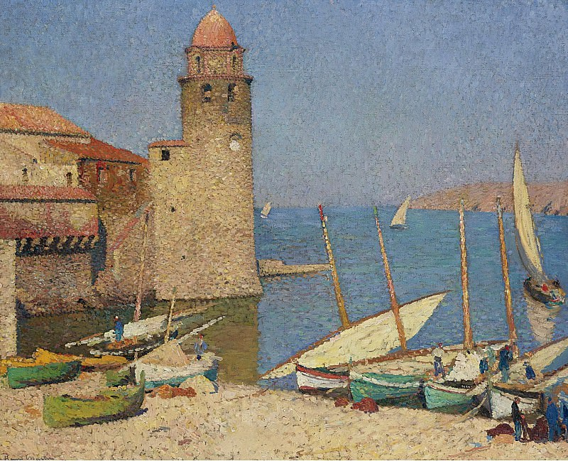 Henri Martin - The Port of Collioure, 1920. Sotheby's