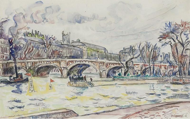 Paul Signac - Le Pont Neuf, Paris, 1930. Картины с аукционов Sotheby's