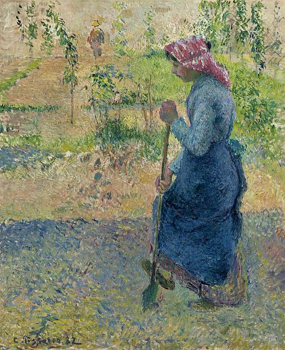 Camille Pissarro - Peasant Woman Digging, 1882. Картины с аукционов Sotheby's