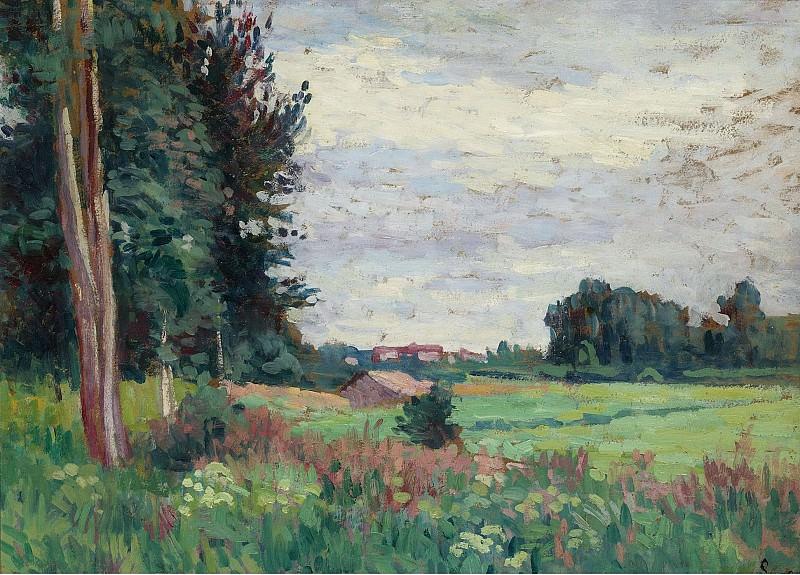Maximilien Luce - View of Mereville. Sotheby's