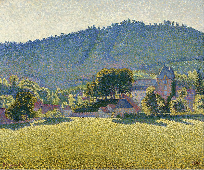 Paul Signac - Comblat-le-Chateau. The Valley, 1887. Картины с аукционов Sotheby's