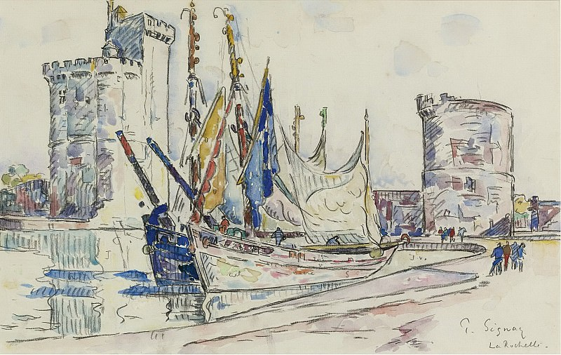 Paul Signac - The Port of La Roshelle. Sotheby's
