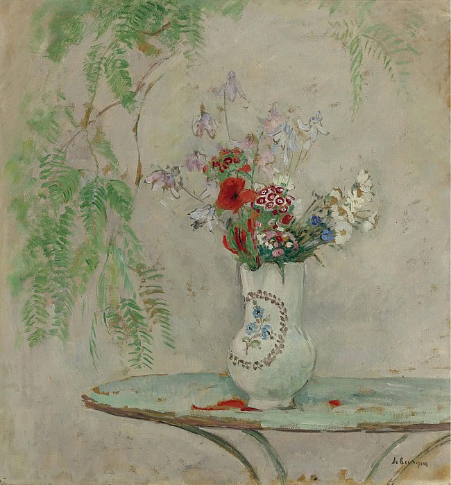 Henri Lebasque - Jug with Flowers. Картины с аукционов Sotheby's