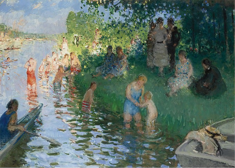 Pierre-Eugene Montezin - The Bathing. Sotheby's