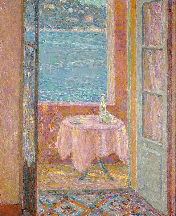 Henri Le Sidaner - Table by the Sea, Villefranche-sur-Mer, 1920. Картины с аукционов Sotheby's