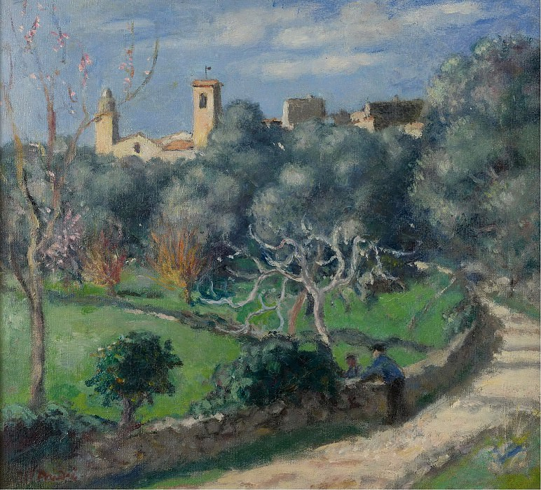 Albert Andre - Landscape, the Church at Cannet, 1902. Sotheby's