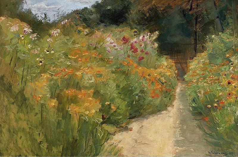 Max Liebermann - Flower Shrubs in Wannsee Garden, 1919. Sotheby's
