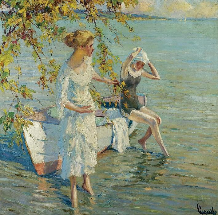 Эдвард Кукуэль - The Bathers. Картины с аукционов Sotheby's