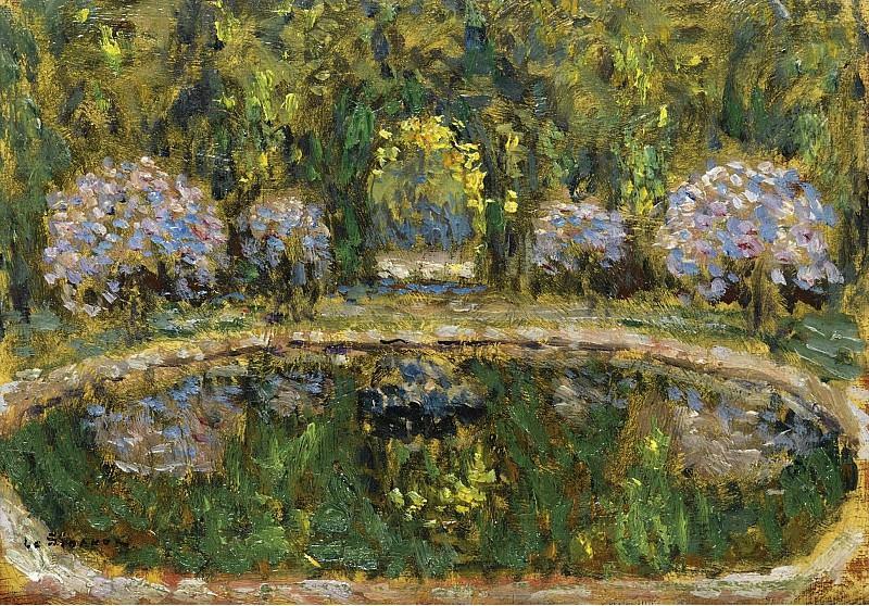Henri Le Sidaner - Bassin de Trianon, 1916. Sotheby's