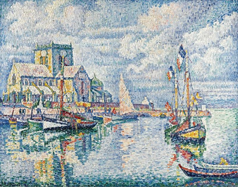 Paul Signac - Barfleur, 1913. Sotheby's