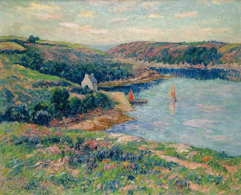 Henry Moret - The River of Belon, 1908. Sotheby's