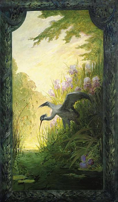 Pierre-Eugene Montezin - Heron at Grenouilles. Sotheby's