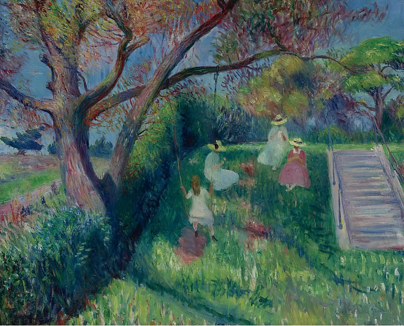 William J. Glackens - The Swing, 1913. Sotheby's