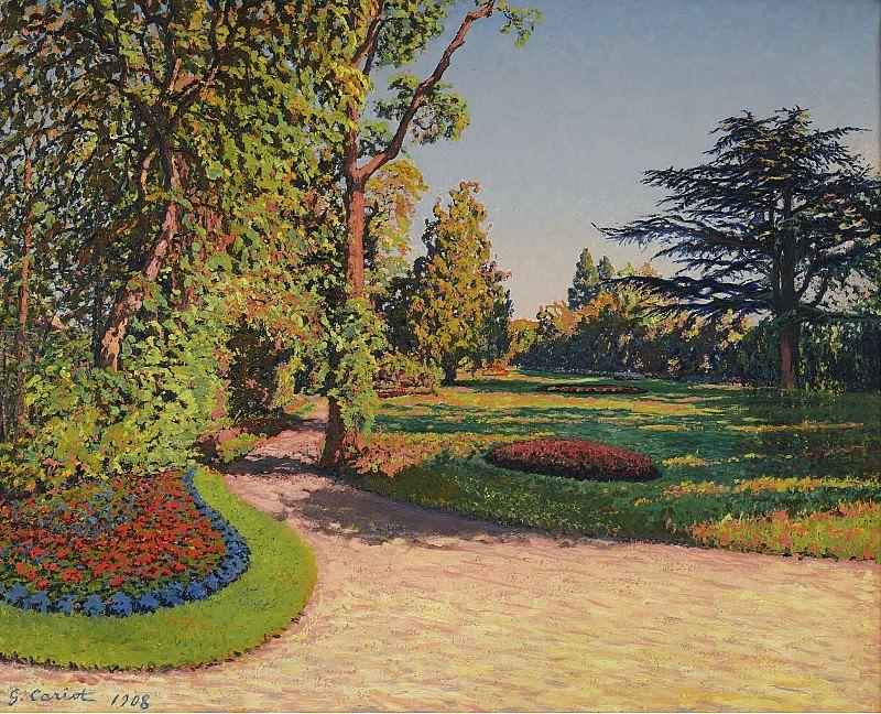Gustave Cariot - The Garden in Summer, 1908. Картины с аукционов Sotheby's