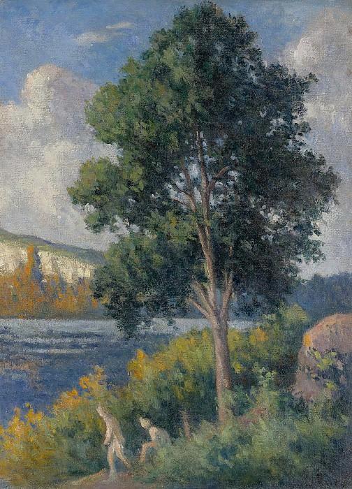 Maximilien Luce - Landscape with Bathers. Sotheby's
