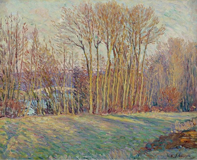 Henri Lebasque - Poplars in Autumn near Chalifert, 1900. Sotheby's