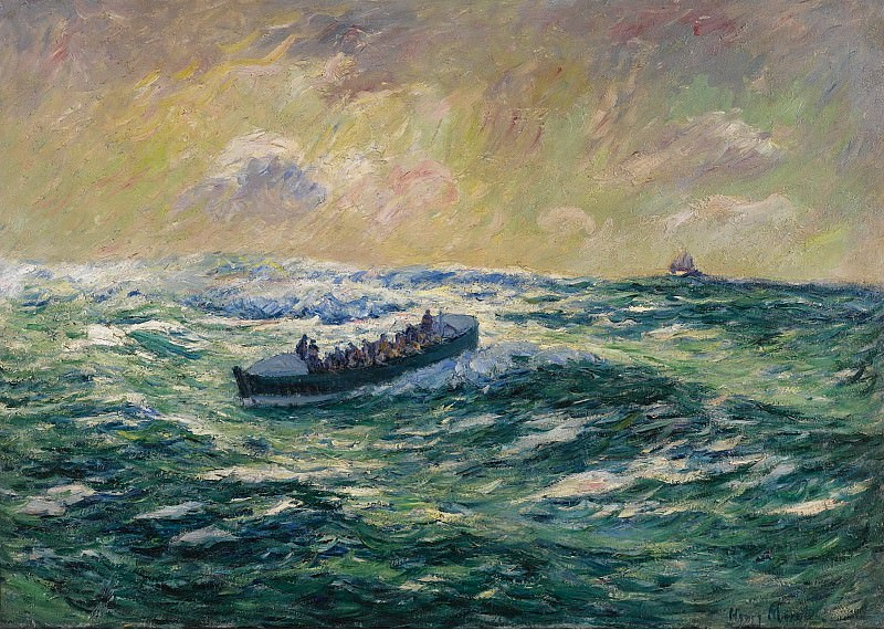 Henry Moret - Rescue Boat at Audierne, Finistere. Sotheby's