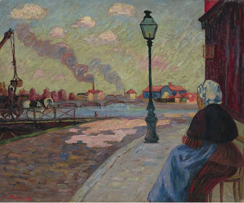 Armand Guillaumin - The Seine at Charenton, 1875. Sotheby's