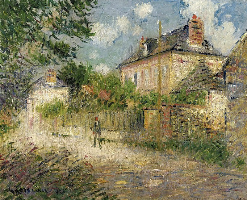 Gustave Loiseau - The House of Monsieur Compon at Vaudreuil, 1923. Sotheby's