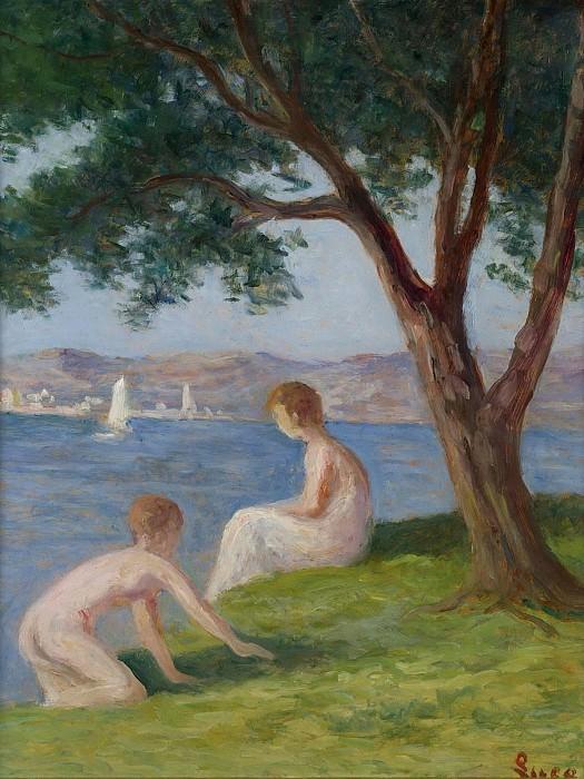 Maximilien Luce - Bathers at Saint-Tropez. Sotheby's