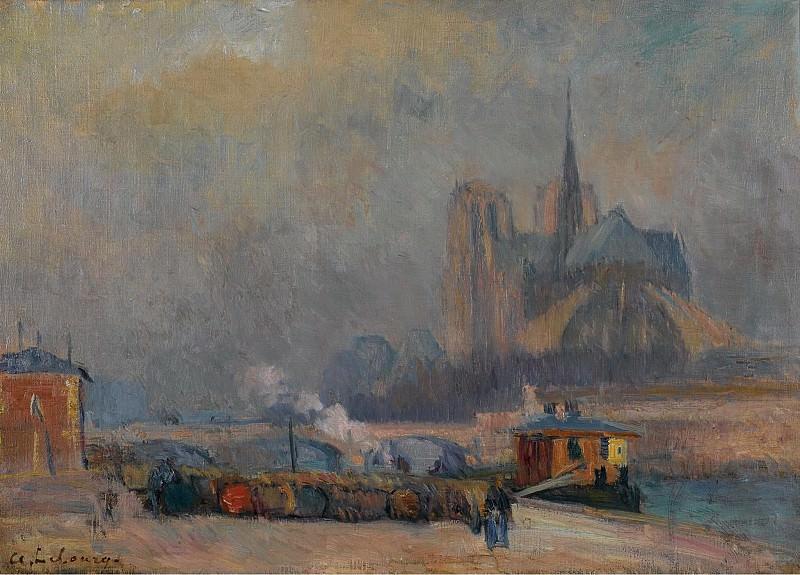 Albert Lebourg - Notre Dame de Paris, View from the Quay of Tournelle. Sotheby's