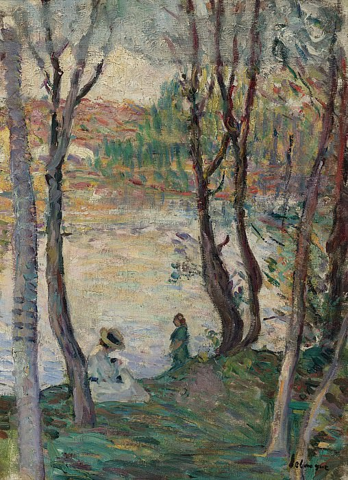 Henri Lebasque - Resting at the Bank of Yaudet, 1903. Sotheby's