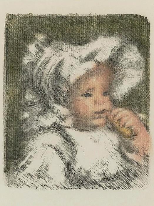 Pierre Auguste Renoir - Child with Bisquit. Sotheby's