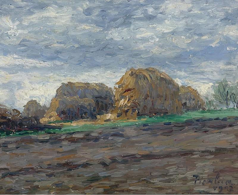 Francis Picabia - Haystacks, 1902. Sotheby's