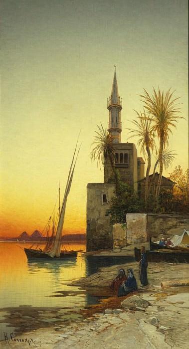 Hermann Corrodi On the Banks of a River 37057 3606. часть 3 -- European art Европейская живопись