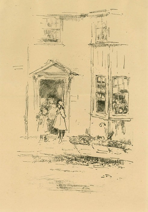 James McNeill Whistler Little Doorway 41409 1124. часть 3 -- European art Европейская живопись