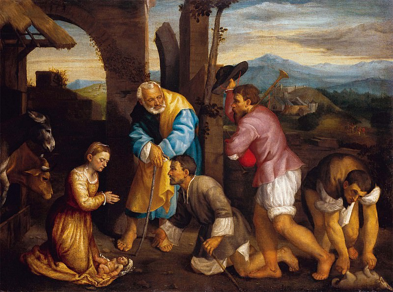 Jacopo dal Ponte called Bassano The Adoration of the Shepherds 5141 203. часть 3 -- European art Европейская живопись