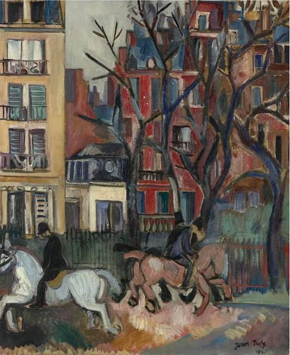 Jean Dufy Les cavaliers 120517 1184. часть 3 -- European art Европейская живопись