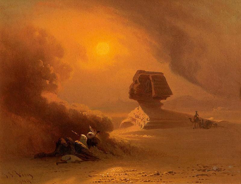 Johann Jakob Frey A Sandstorm near the Sphinx 37513 121. часть 3 -- European art Европейская живопись