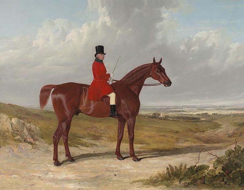 John Frederick Herring Snr Portrait of Mr Daniel Haigh Master of the Old Surrey Hunt 28346 20. часть 3 -- European art Европейская живопись
