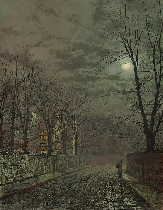 John Atkinson Grimshaw Under the moonbeams Knostrop Hall 98619 20. часть 3 - европейского искусства Европейская живопись